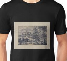 411 Original drawings representing residences of prominent people all with Staten Island NY on the drawn portion Unisex T-Shirt