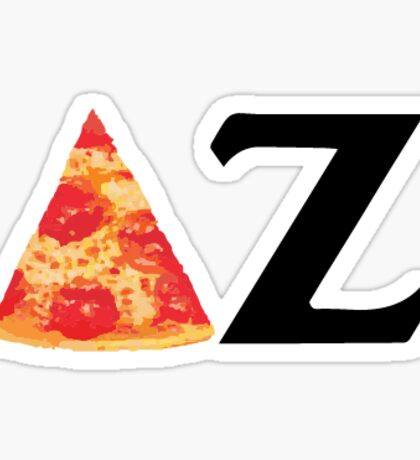 Pizza Delta Zeta Sticker