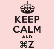 Keep Calm Geeks: Command Z One Piece - Long Sleeve