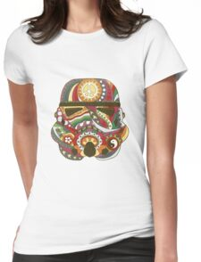 Vintage Psychedelic Storm Mask Womens Fitted T-Shirt
