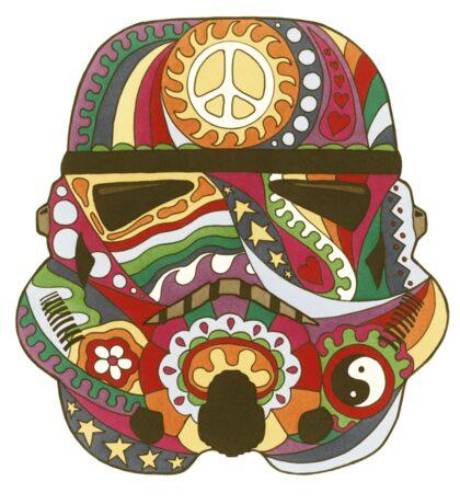 Vintage Psychedelic Storm Mask Sticker