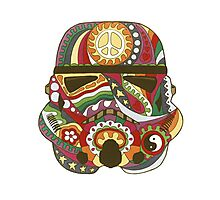Vintage Psychedelic Storm Mask Photographic Print