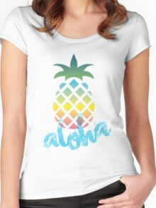 Pineaple Aloha PPAP Women's Fitted Scoop T-Shirt