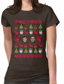 Liverpool FC 8-bit Holiday Sweater Womens Fitted T-Shirt