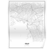 Oslo Minimalist Map Poster