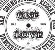One Love In Ska SoundSystem Reggae Dub DanceHall Rocksteady  Sticker