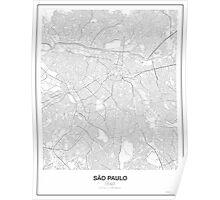 São Paulo Minimalist Map Poster