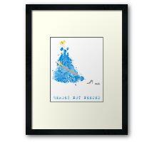 Cinderella-HeroesNOTNeeded Framed Print