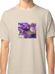 Purple, Violet and Mauve Iris Abstract Classic T-Shirt