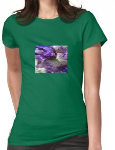 Purple, Violet and Mauve Iris Abstract Womens Fitted T-Shirt