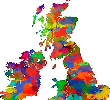 Great Britain Watercolor Map by chris2766