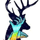Thee Deer Shadow by eggzoo