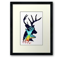 Thee Deer Shadow Framed Print