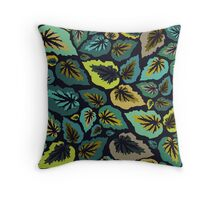 Going, Going, Begonia Throw Pillow