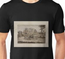409 Original drawings representing residences of prominent people all with Staten Island NY on the drawn portion Unisex T-Shirt