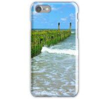 breakwaters on the beach, northsea in Domburg Holland iPhone Case/Skin