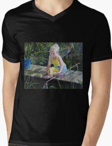 Kikkervisjes vangen - fishing for babyfrogs Mens V-Neck T-Shirt