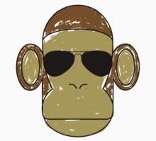 Monkey Aviators One Piece - Short Sleeve