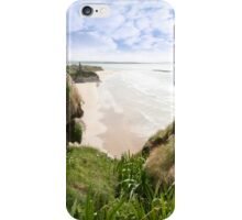 flora view from the top of the cliffs in Ballybunion iPhone Case/Skin