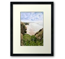 flora view from the top of the cliffs in Ballybunion Framed Print
