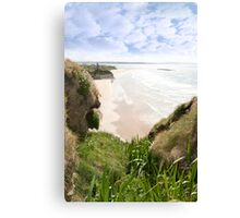 flora view from the top of the cliffs in Ballybunion Canvas Print
