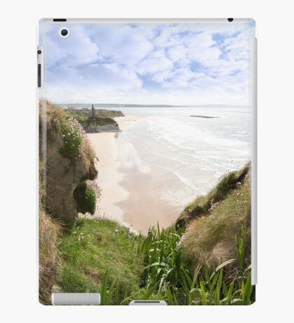 flora view from the top of the cliffs in Ballybunion iPad Case/Skin