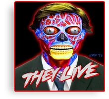 THEY LIVE - Red & Blue Canvas Print
