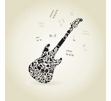 Art a guitar Photographic Print