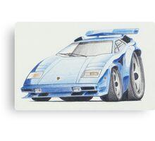 Lamborghini Countach by Glens Graphix Canvas Print