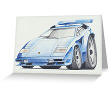 Lamborghini Countach by Glens Graphix Greeting Card