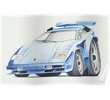 Lamborghini Countach by Glens Graphix Poster