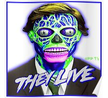 THEY LIVE - Blue & Green Poster