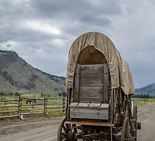 Covered Wagon at Hat Creek by Kevin Krueger