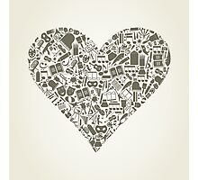 Art heart Photographic Print