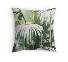 Enchanting Flower Garden Throw Pillow