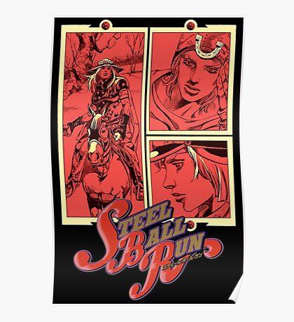 JoJo's bizarre adventure Steel Ball Run Poster