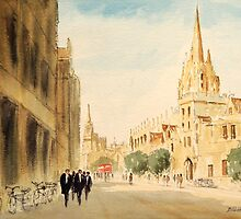 Oxford Students In The High Street by bill holkham