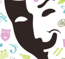 Art mask Sticker