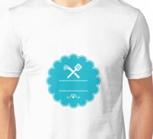 Spatula Flogger Whip Crossed Rosette Retro Unisex T-Shirt