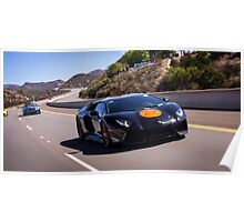 Lamborghini Aventador Charging through on the Cruise 4 Kids Rally! Poster