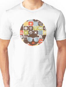 Robots on buttons Unisex T-Shirt