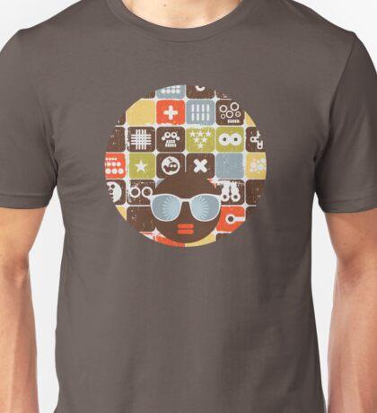 Robots on buttons Unisex T-Shirt
