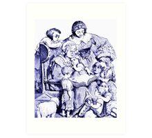 Vintage Mother Goose Reading To Children Art Print