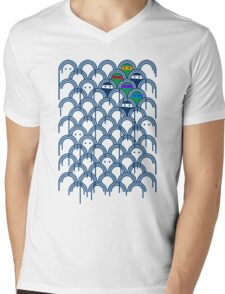 Abstract geometric cool ghost ninjas Mens V-Neck T-Shirt