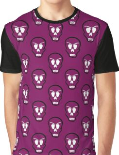 Seamless Pattern Halloween Skulls Graphic T-Shirt
