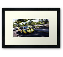 Lamborghini Murcielago LP640 Roadster Rolling Shot on the C4K rally! Framed Print