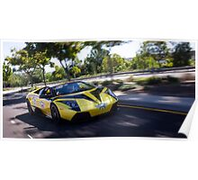 Lamborghini Murcielago LP640 Roadster Rolling Shot on the C4K rally! Poster