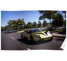 Lamborghini Murcielago LP640 Roadster Rolling Shot! Poster