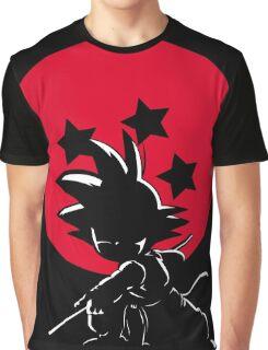 Red Ball Silhouette Goku Graphic T-Shirt
