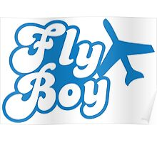 Fly Boy with jet plane Poster
